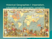 Historical Geographies I