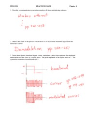 PHYS 230 - Chap 4 Practice Exam with Solutions