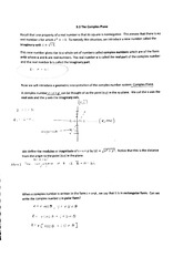 the complex plane notes
