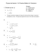 8a Section 110 Practice Midterm #1 Solutions