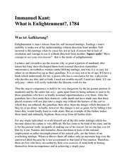 What-is-Enlightenment-Kant