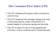CPI and Inflation-short