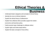 explain a relativistic theory of ethics