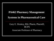 Systems in Pharmaceutical Care fall 2014 post