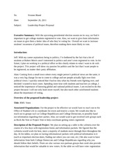 Leadership Proposal Assignment
