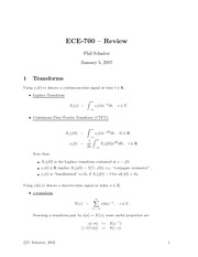 ECE 700 Lecture Notes (Phil Schniter)