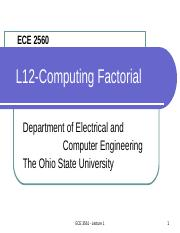 ECE 2560 - Lecture 14 Computing Factorial.ppt