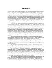 Autism research paper