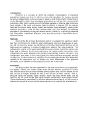 animal behavior lab report Animal behavior – ap lab 11 overview (part a) in this laboratory, you will observe the behavior of an arthropod and design an lab report instructions.