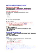 Rules for Sig Figs Notes