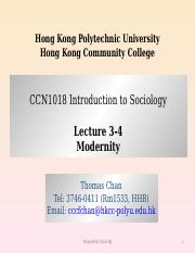 CCN1018 Lecture 3&4 Modernity.ppt