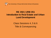 RE 358 URB 351 Powerpoint 0203