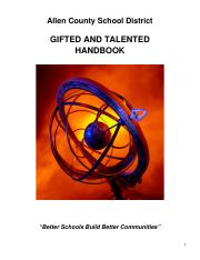 0-Allen County Gifted and Talented Handbook as of 09-10-08.doc