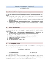 Conceptual overview of company law