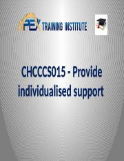 PPT CHCCCS015 Provide individualised support.pptx