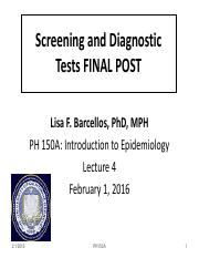 PH150A_2016_Lect 4_Screening and Diagnostic Tests FINAL POST