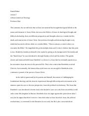 Afro Theology Politics of Jesus Paper.docx