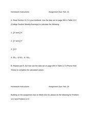 Sigma Notation Hwk assignment