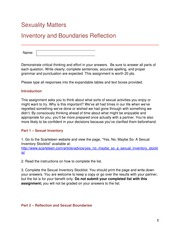 Reflection 3 covered Inventory and Boundaries