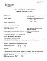 Company Accounting - 2011 - Semester%3A2 - Examination for BX3011 - Townsville%2FCairns.pdf