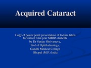 Acquired Cataract