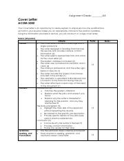 Cover Letter_Personal Statement Rubric