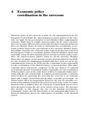 Economic policy coordination in the eurozone