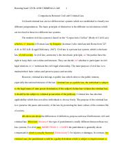 Comparisons Between Civil and Criminal Law.docx