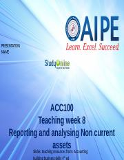 TW8 Non Current assets Accounting ACT100 Slides