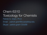 Chem 6310 Lecture 07a