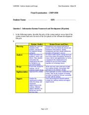 esss case study milestone 4 solution