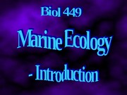 Science of Marine Ecology and Biology