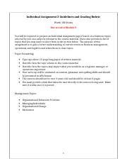 MAN 3240_Individual Assignment 2_Guidelines & Rubric(1)