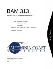 BAM 313 - Financial Management (Study Guide).DOCX