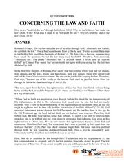 15. CONCERNING THE LAW AND FAITH