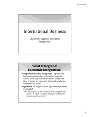 IB Chapter 08 - Regional Economic Integration