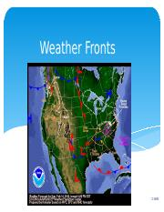 Lecture 16 Weather Fronts