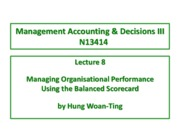 Lecture 8 Managing Performance using BSC