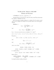 Math 354 Midterm #1 Solutions