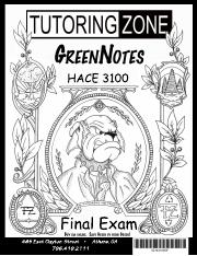 HACE3100FinalExamGreenNotes