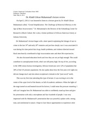 2rd Dr. Muhammad's Lecture Review