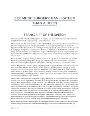 cosmetic surgery is a bane not a boon.docx