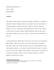 Arguments - International Environmental Law.pdf