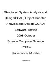 (www.entrance-exam.net)-SSAD, OOAD Software Testing Sample Paper 5
