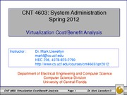 Virtualization Cost-Benefit Analysis