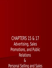 BUSMKT 1040 Chapters 15  17 Adv PR Sales Promo Pers Sell Part 1.pptx
