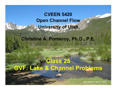 25 - GVF - Lake & Channel Problems.pdf