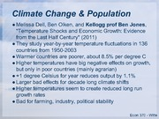 Climate Change & Population