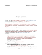 greeek notes Agamemnon