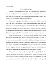 Essay about pilot career